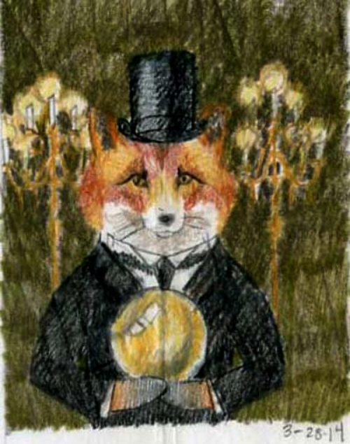 Fox Spiritualist sketch