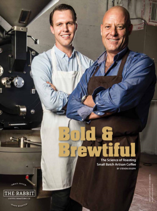Two Handsome men and a richly roasted coffee bean, what more could you ask for?