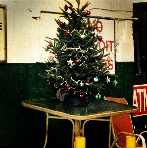 Simple Christmas Tree in Greenwich St. Car Rental
