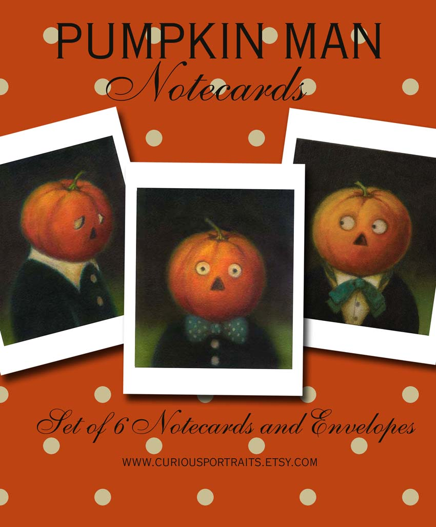 Lisa Zador-Pumpkin Man Note Cards