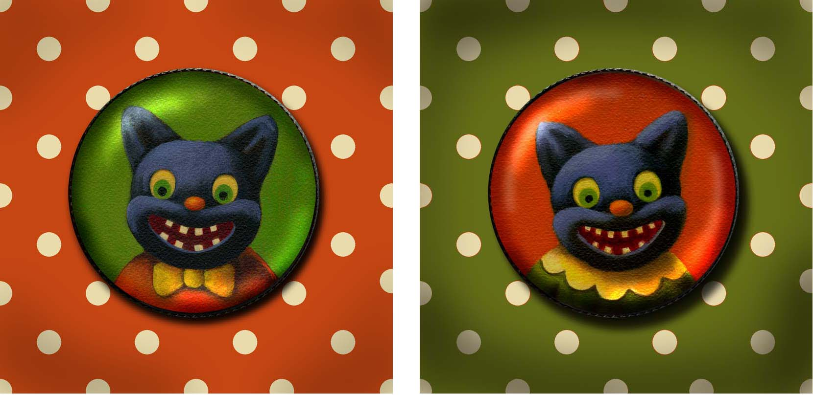 Lisa Zador-Goblin Cat Brooches