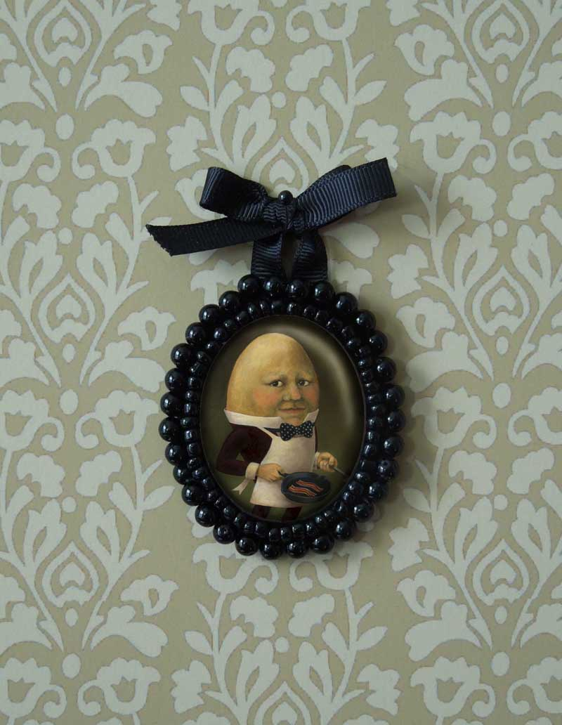 Uncle Omelette may be my favorite portrait miniature, his unusual countenance seems perfect for this presentation.