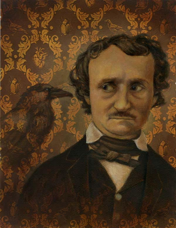 Edgar Allen Poe Portrait - Lisa Zador Illustration