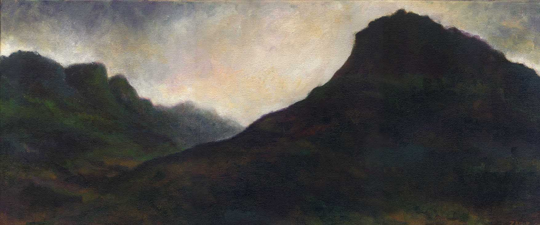This is one of many landscapes I did of Glen Coe on a wonderful road trip through Scotland.