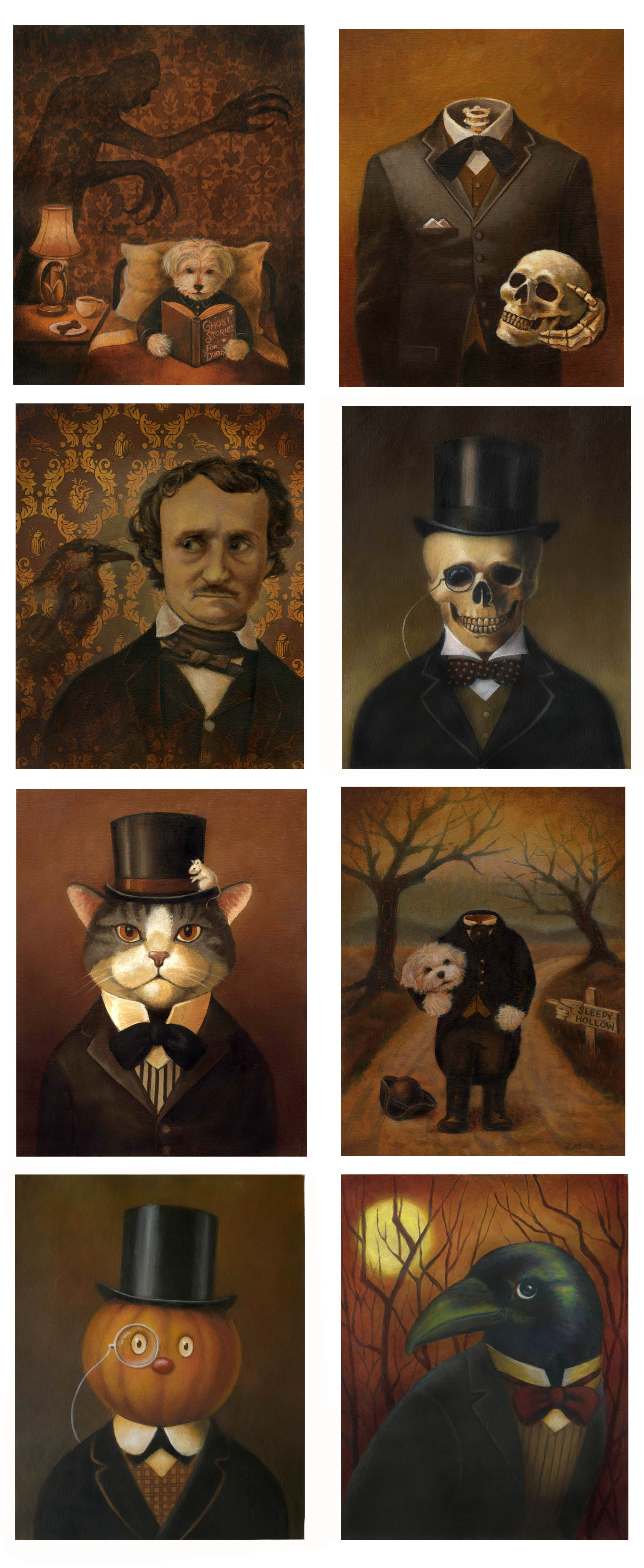 Headless Dogs, Gentlemen Skeletons and even Edgar Allen Poe makes an appearance!