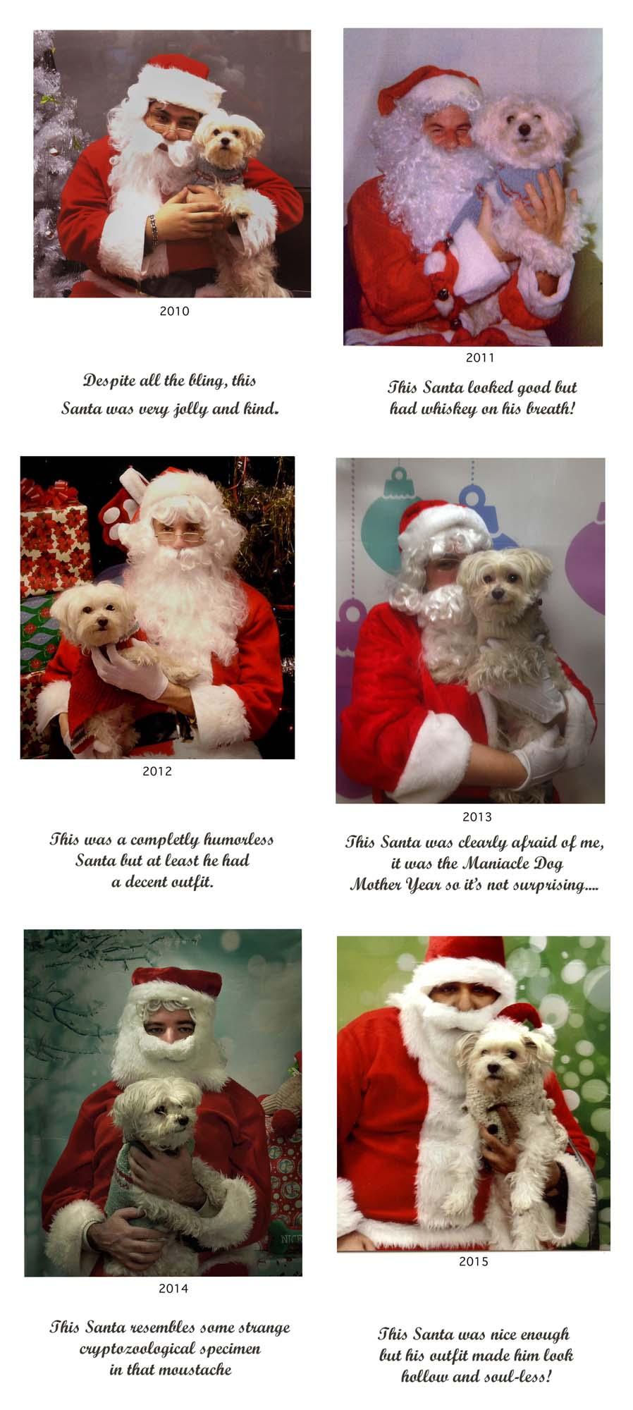 Pet Santa Comparison Chart