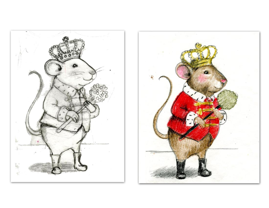 First sketches for the Mouse King