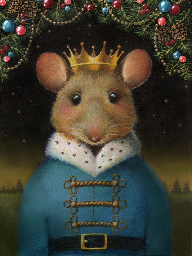 The Mouse King with the garland.