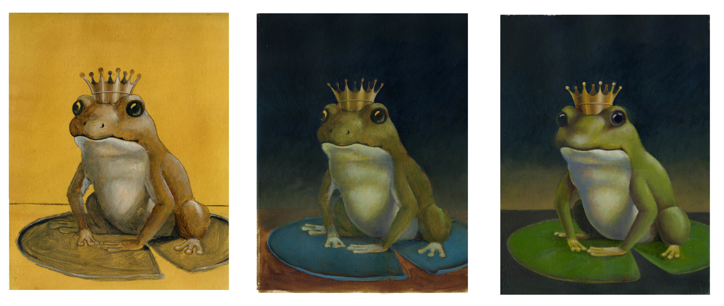The Frog Prince stages of painting