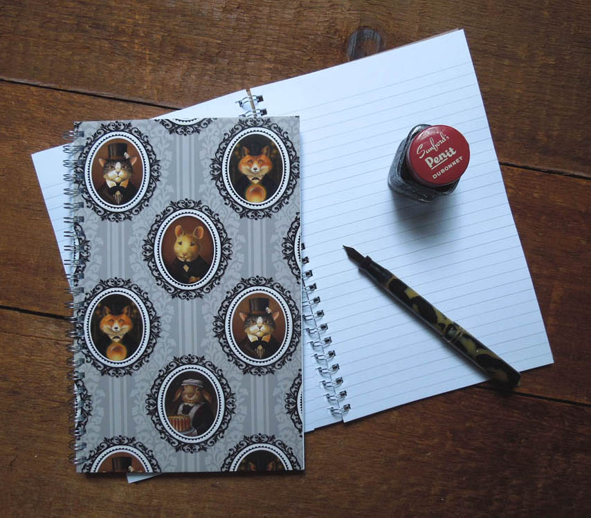 New Victorian Animal Notebooks feature an allover print using my favorite portraits.