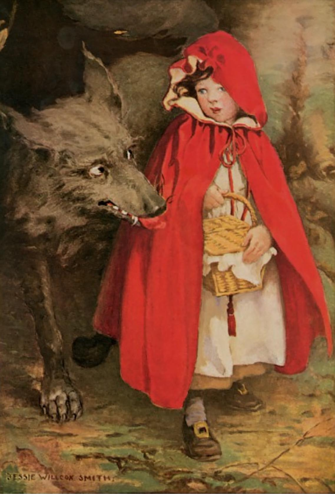 Little Red Riding Hood. Illustrated by Jessie Wilcox Smith