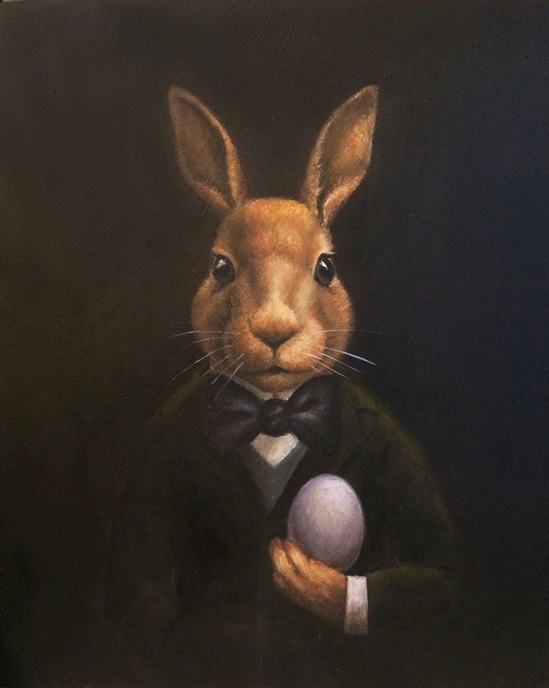 Mysterious Rabbit Portrait-Lisa Zador