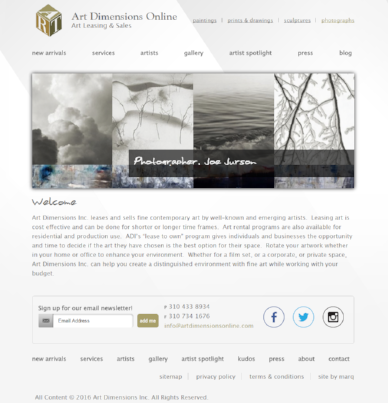 ArtDimensionOnline.com - SEO Client