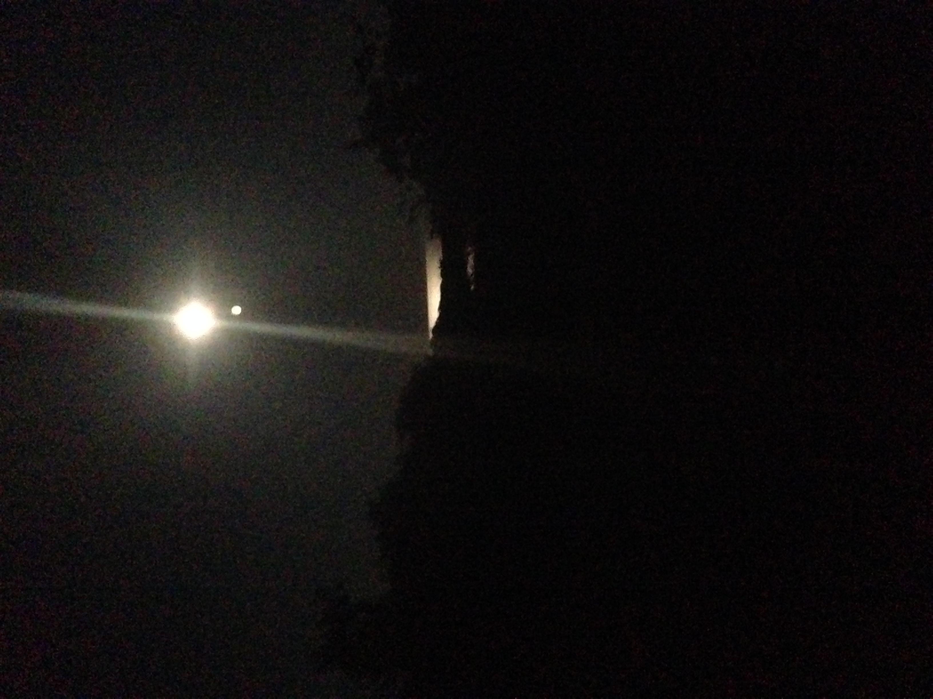Moon overlooking Clay Head Trail