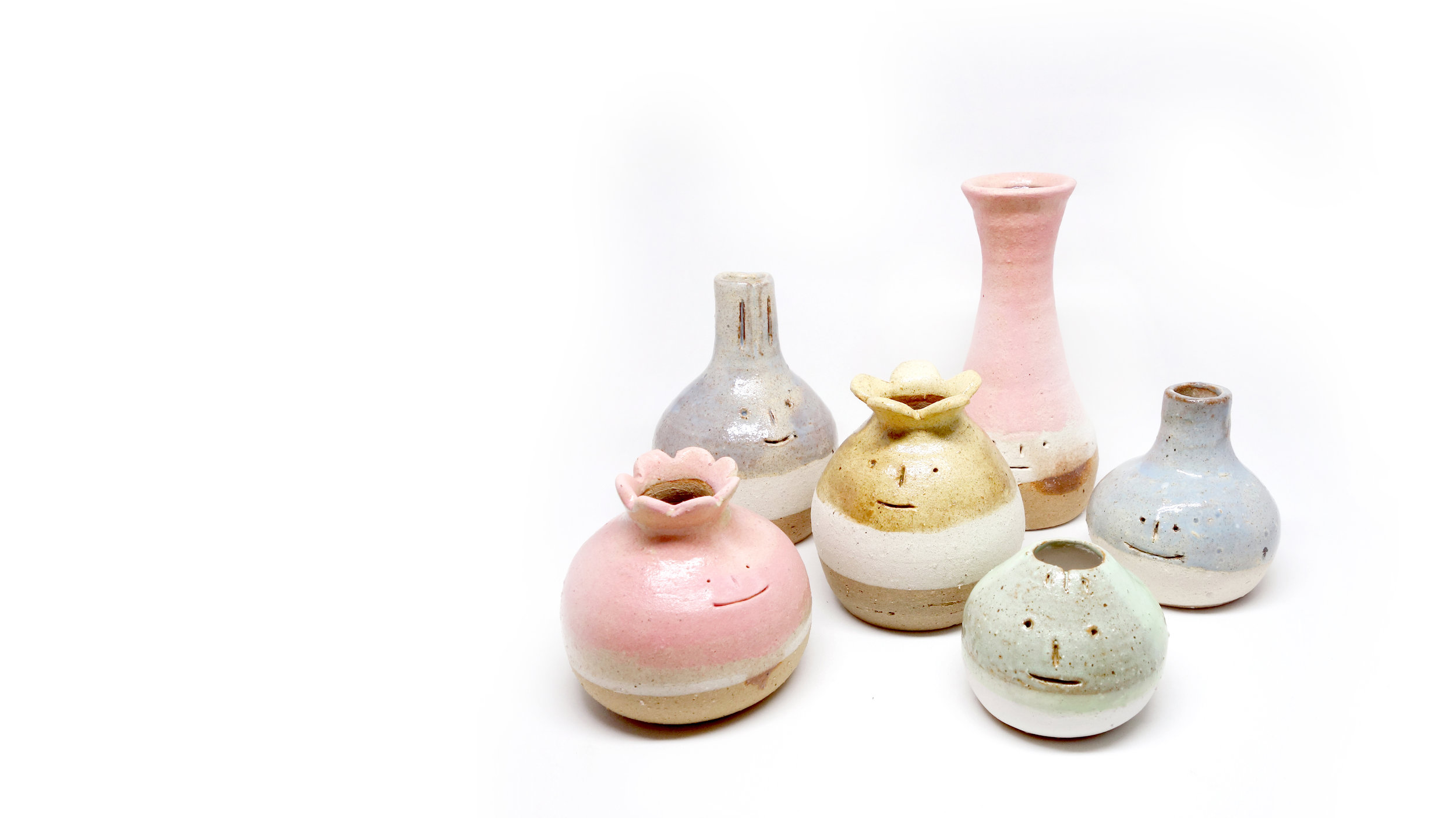 Ceramic Vases / Earthware / Summer,2017