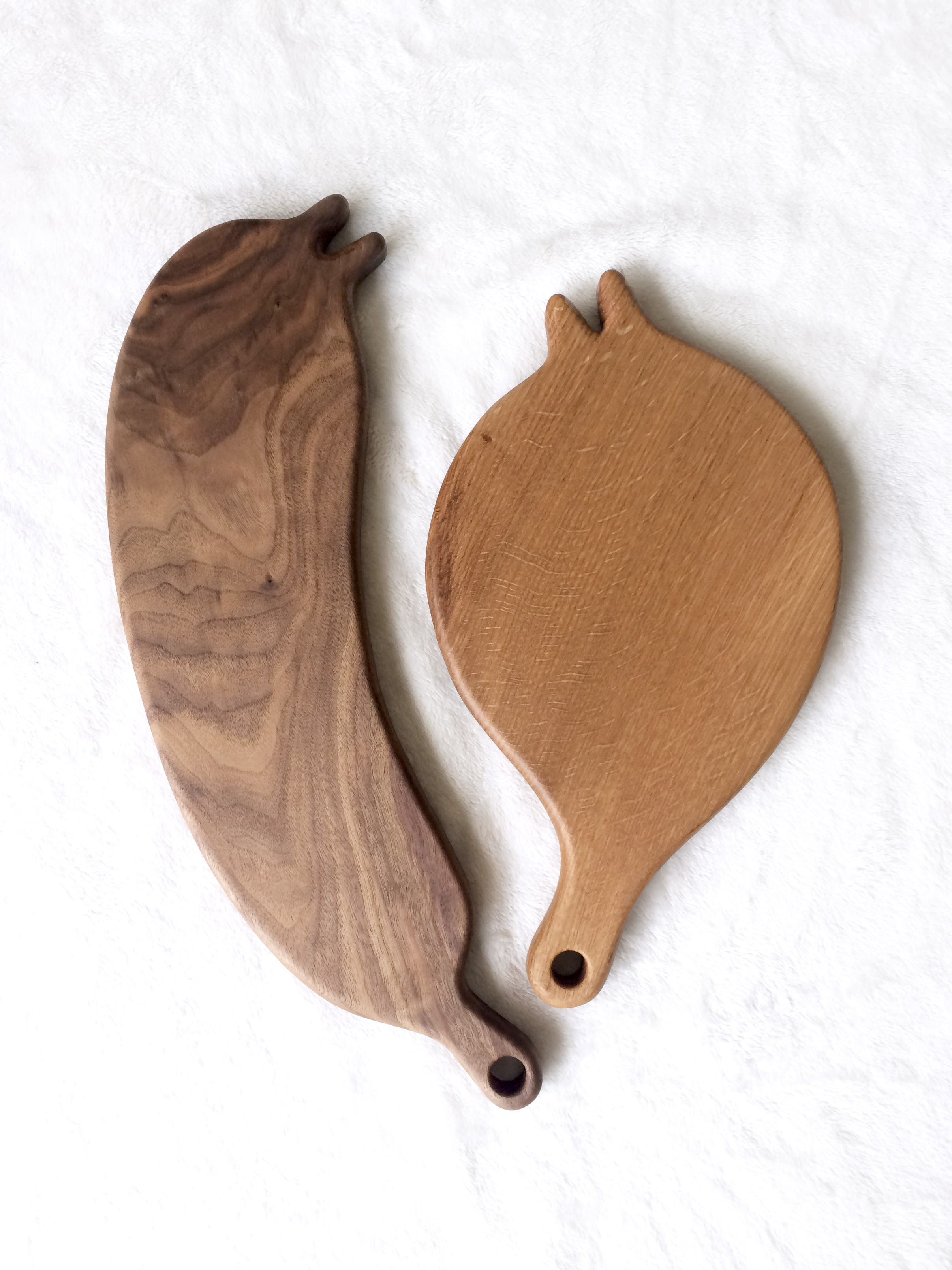 Wood Cutting Board / Walnut, Oak / Summer, 2017