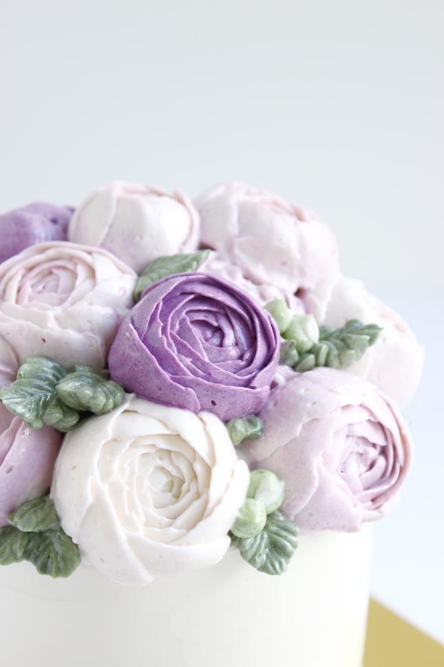 eatcakebemerry_purple flower_buttercream_cake