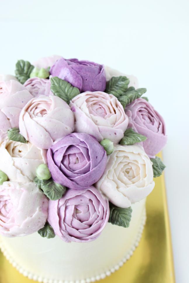 eatcakebemerry_purple flower_buttercream_cake_3