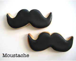 Eat Cake Be Merry Moustache Cookie