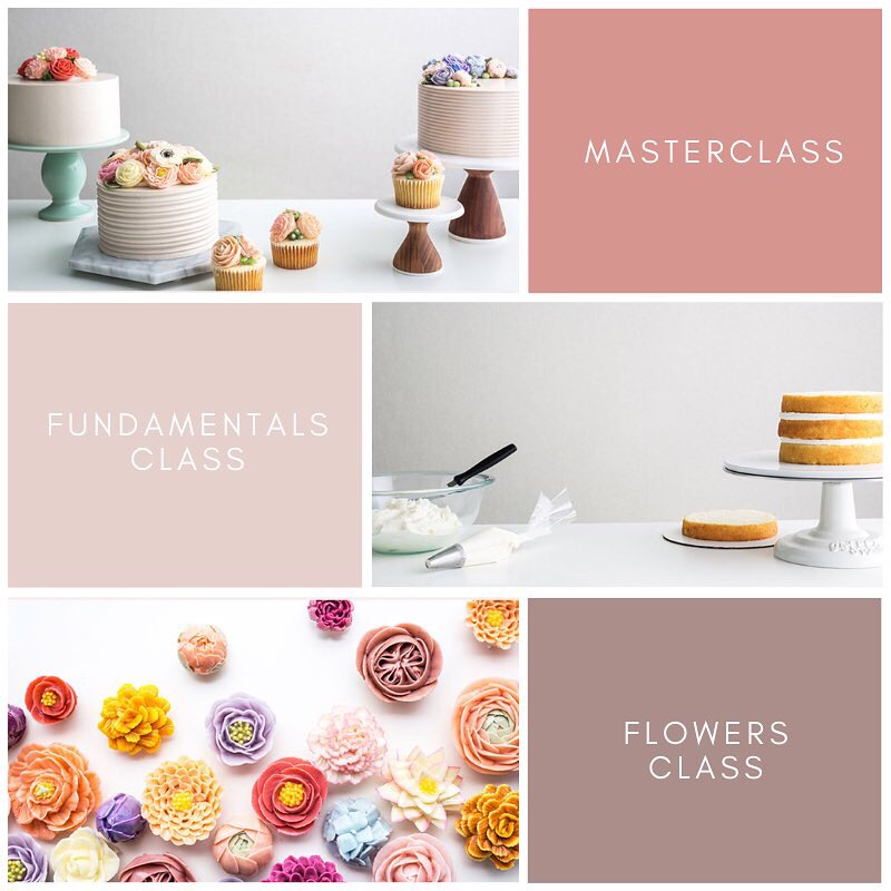 buttercream flower cake classes