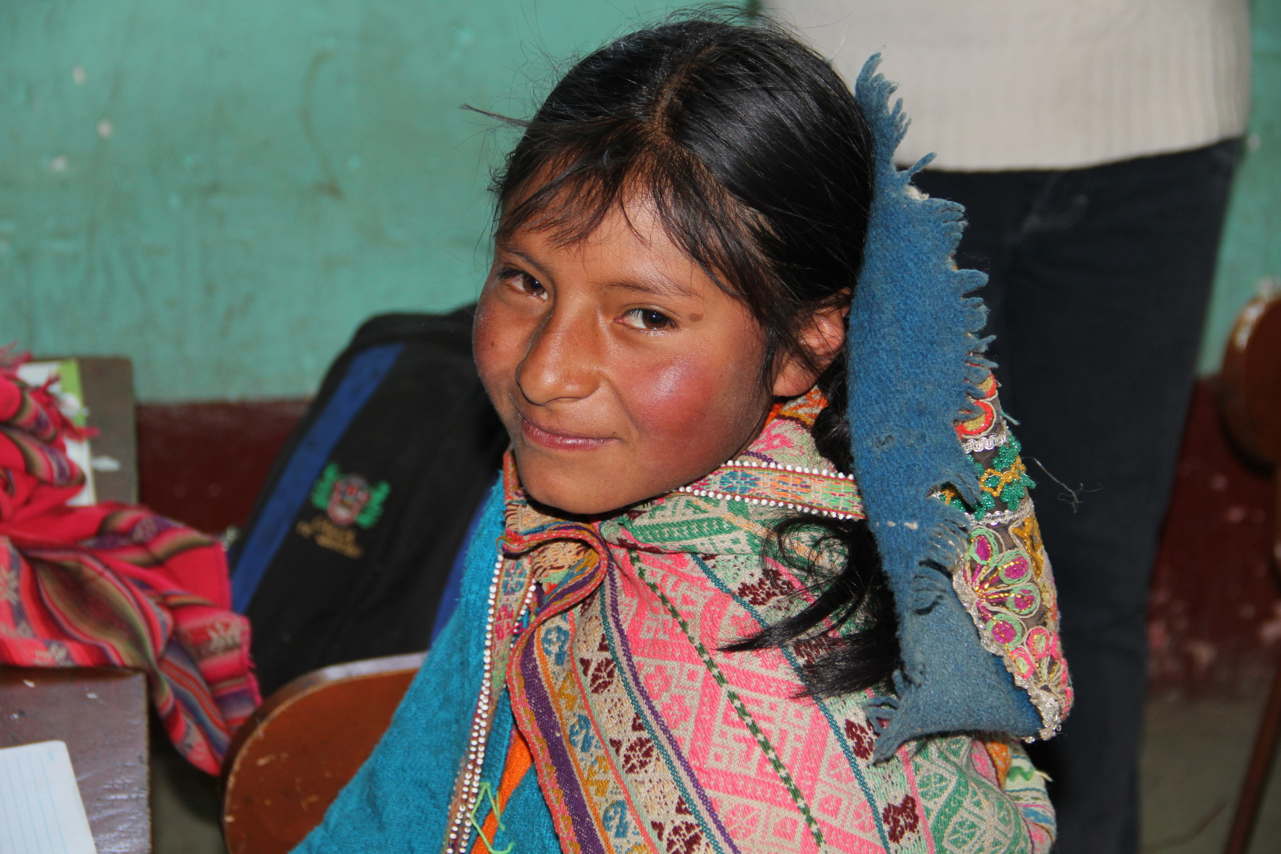 A beautiful child in the village of Pampallacta, Peru where our team was serving chiropractic.