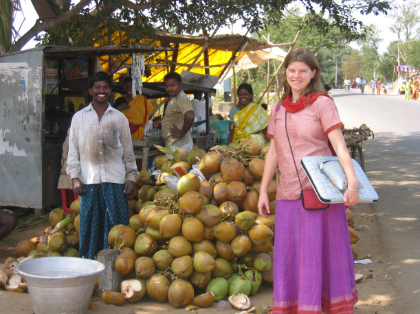Dr. Rhea during her time setting up a short term service project in India