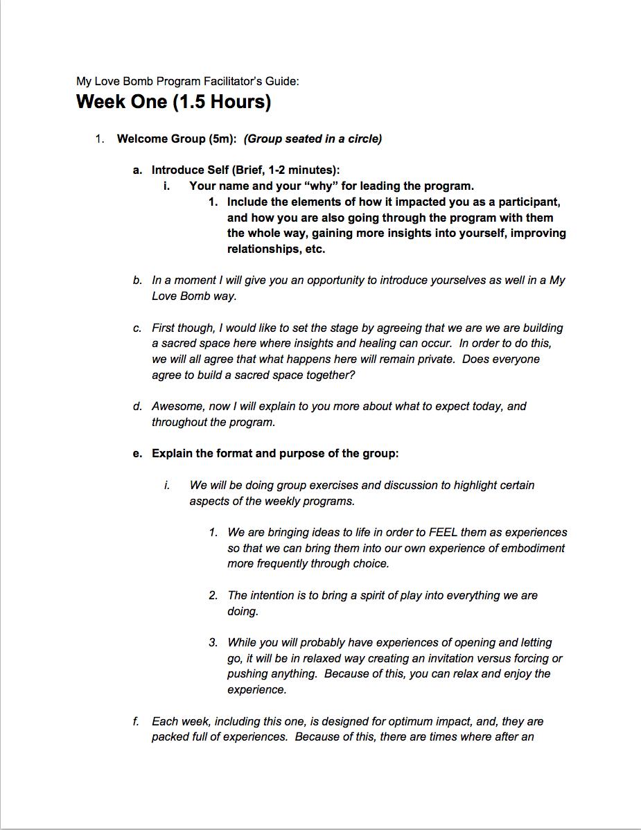 Week 1 Facilitation Guide