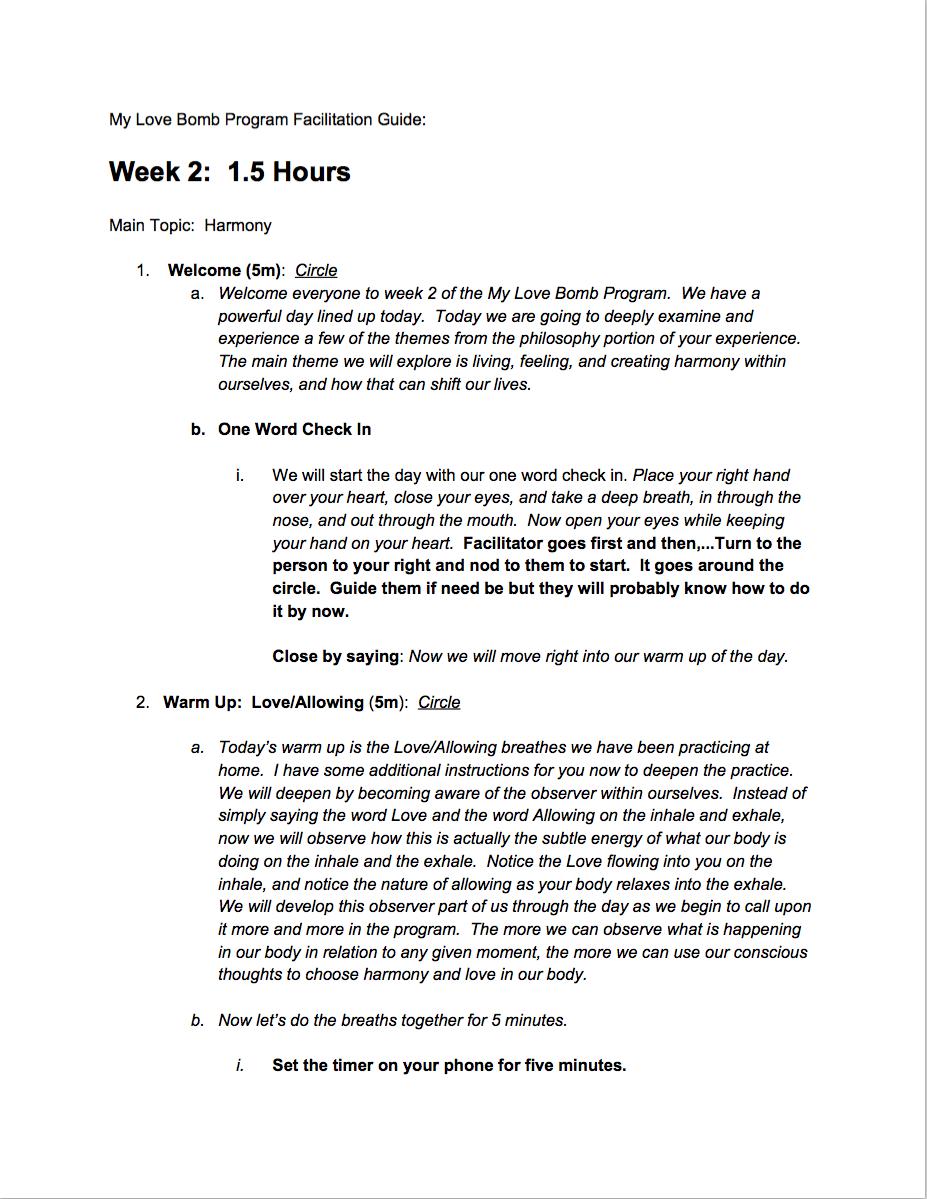Week 2 Facilitation Guide