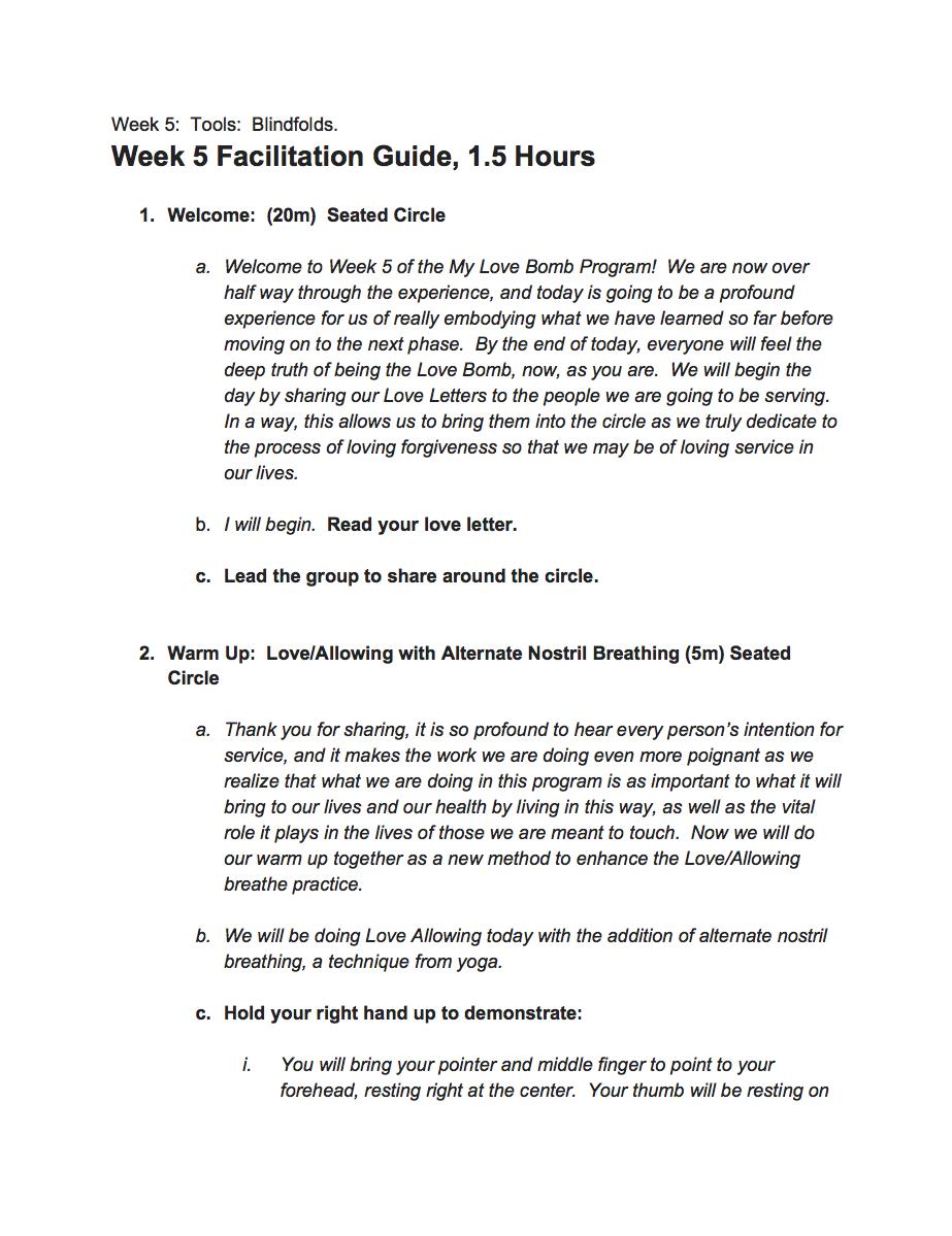 Week 5 Facilitation Guide