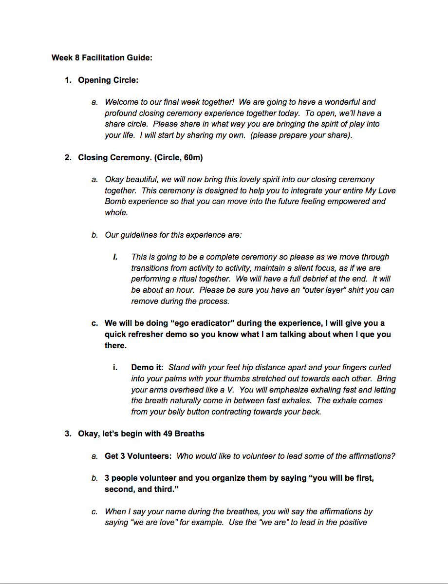 Week 8 Facilitation Guide