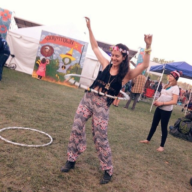Here's an outfit from last year's Strange Creek Music Festival wearing Topshop pants, Aldo ankle boots, and a Free People top and necklace.