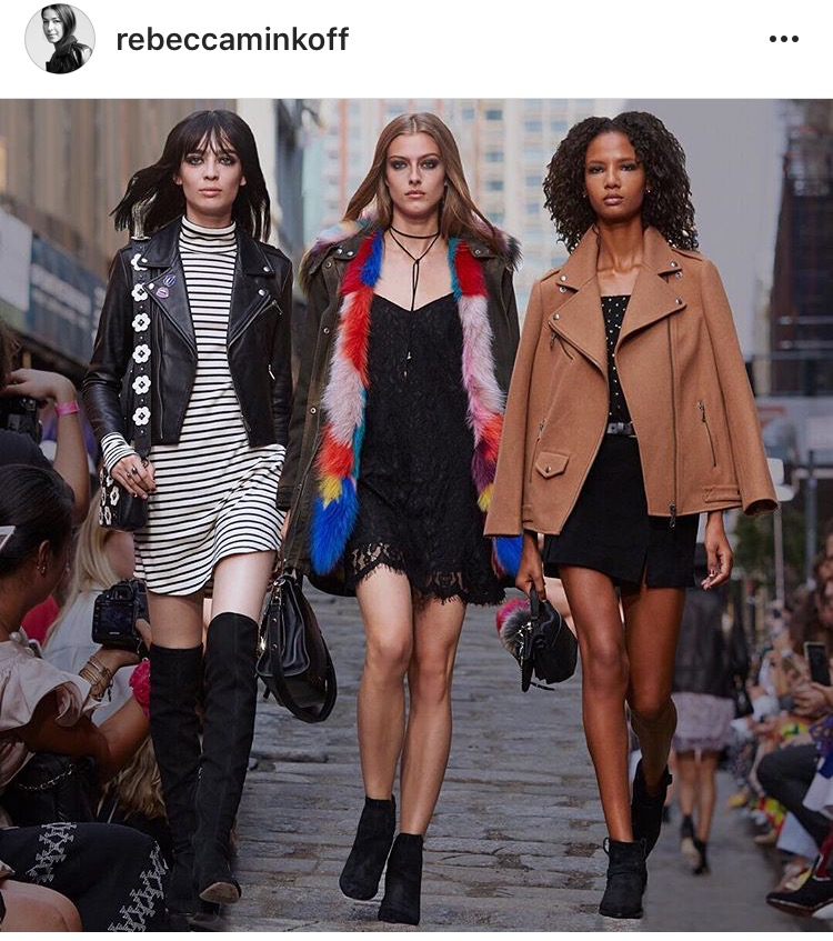 The look on the left, one of my inspirations for this post. Bravo in your NYFW runway  Rebecca Minkoff !