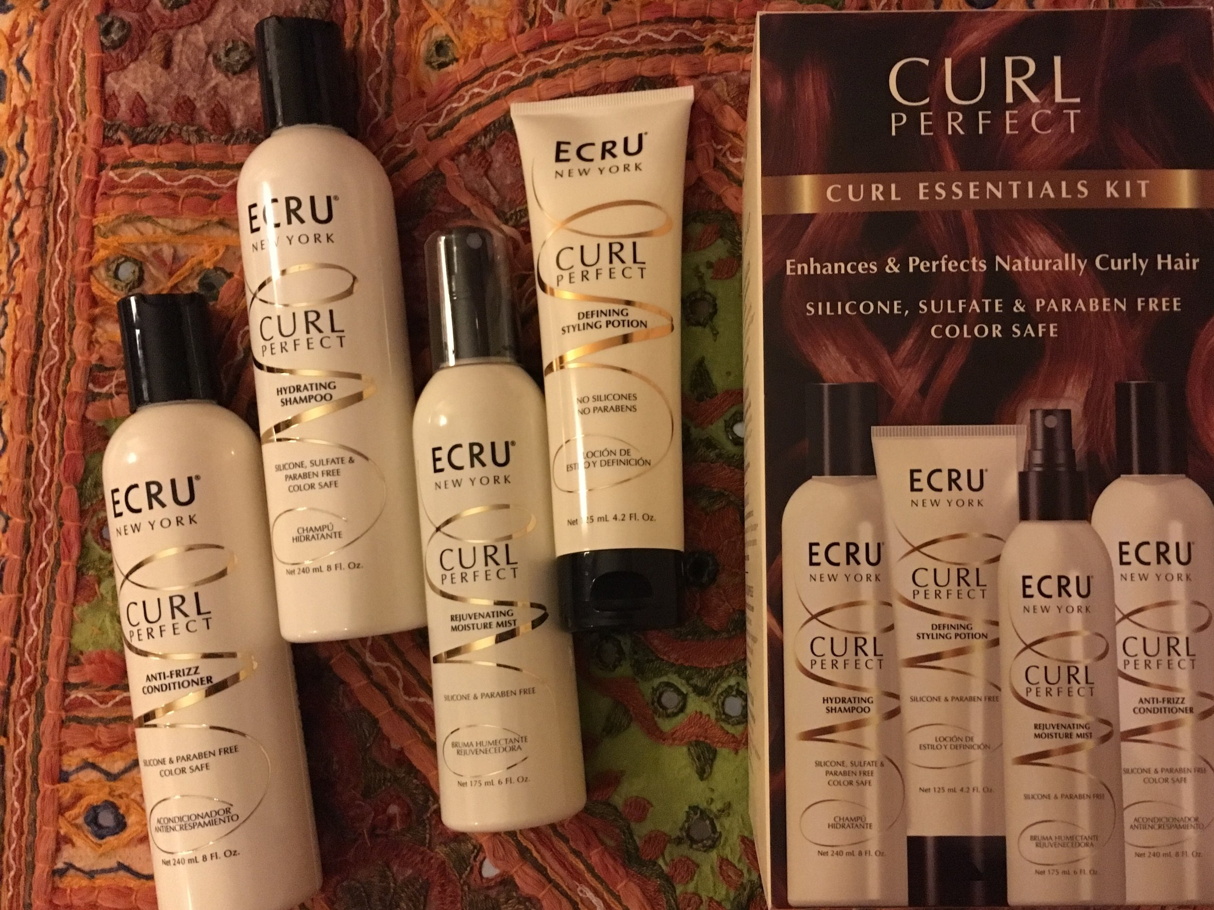 Trying out the  Ecru New York  Curl Essentials Kit!