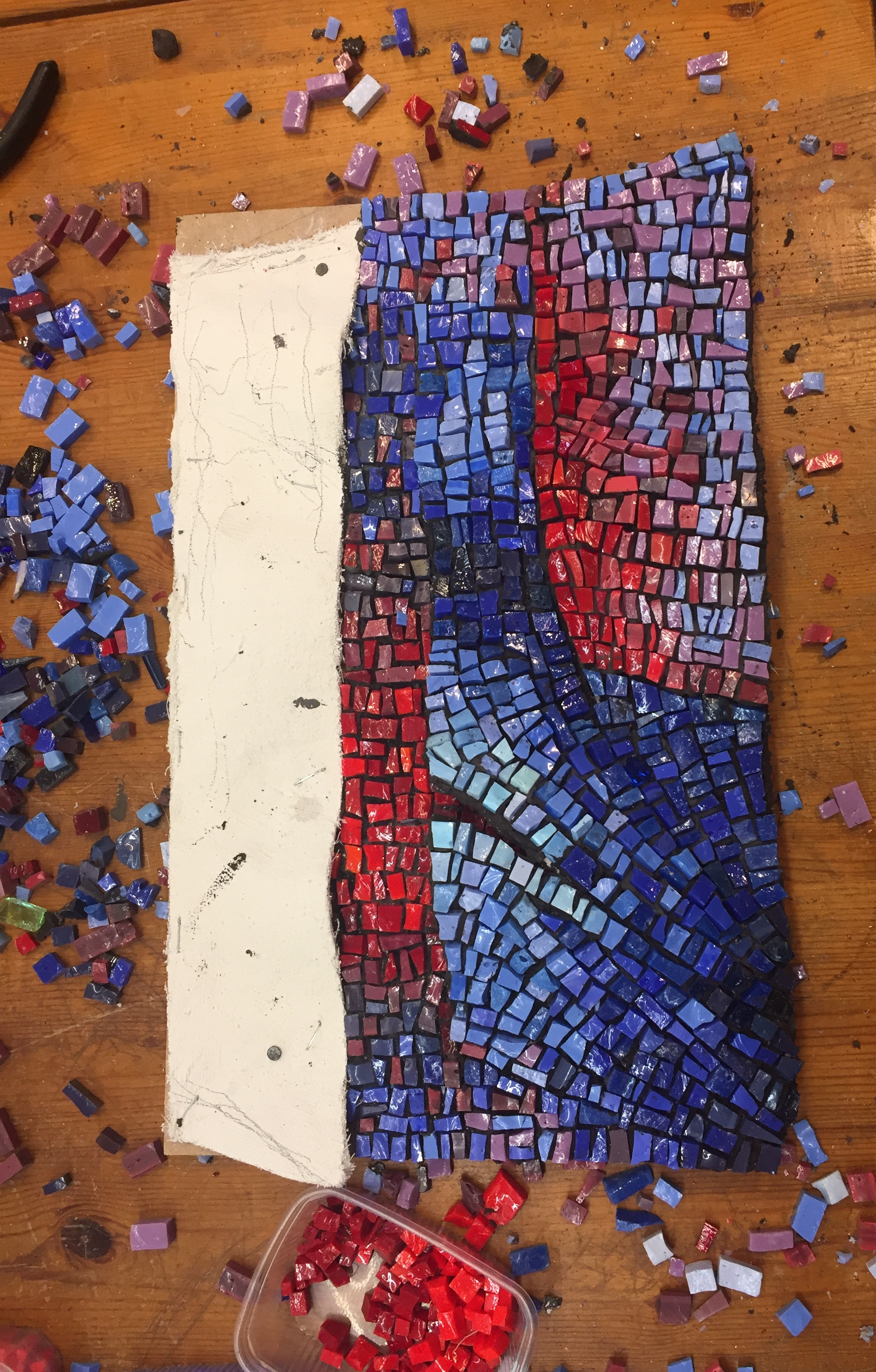 """Contemporary Work In Progress, Italian Smalti 2016 10""""x16"""""""