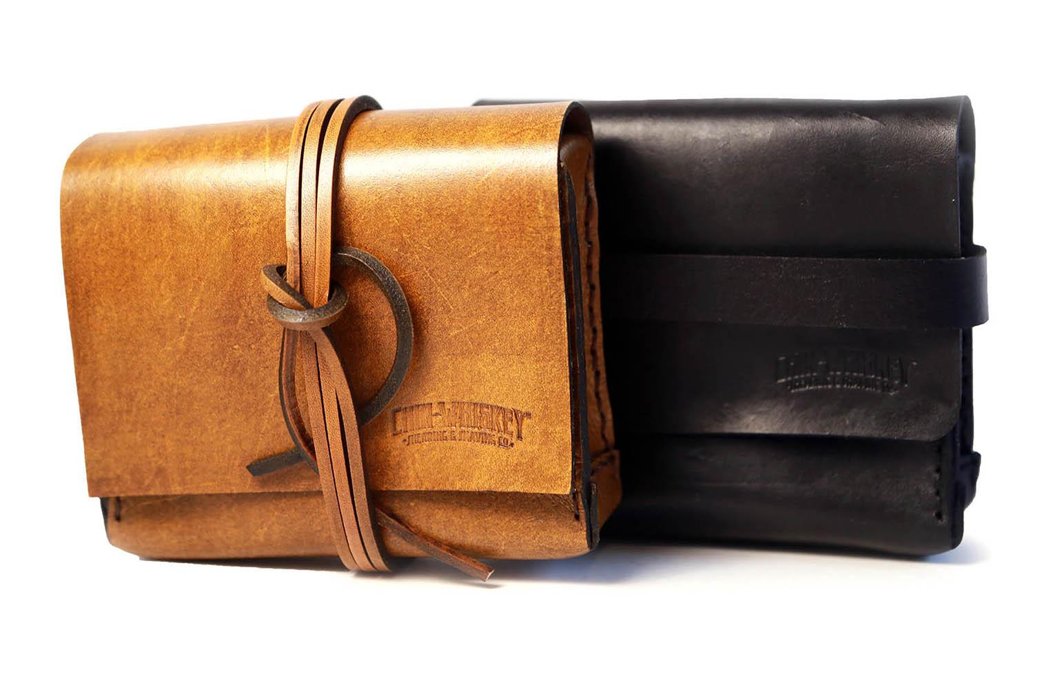 Leather dopp bags