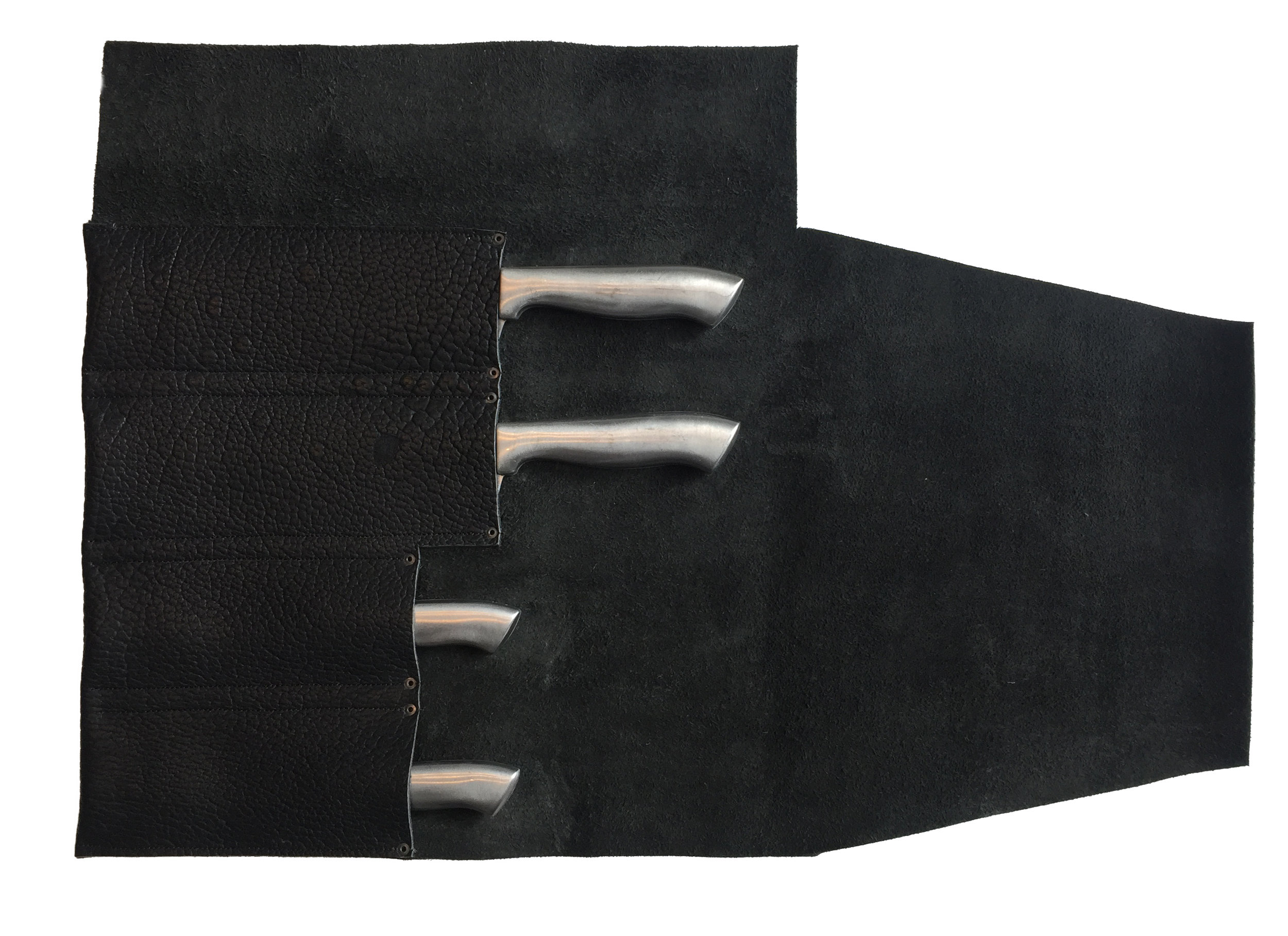 Bison Knife Roll Open LETHRBAR.JPG
