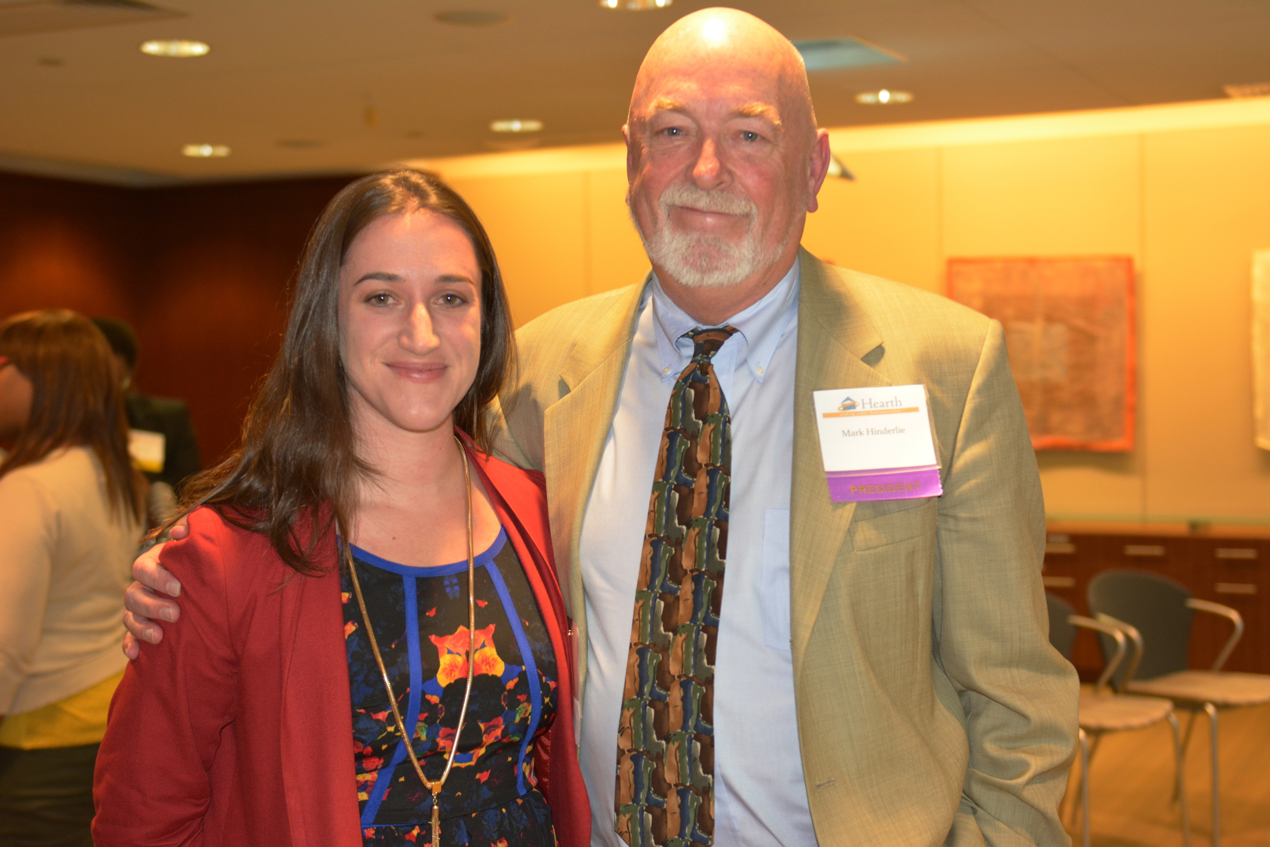Mark with RachelCaraviello from Affordable Living for the Aging. ALA is based in Los Angeles, CA and received the Distinguished Service Award in part for the opening of their first supportive housing residence for formerly homeless seniors.
