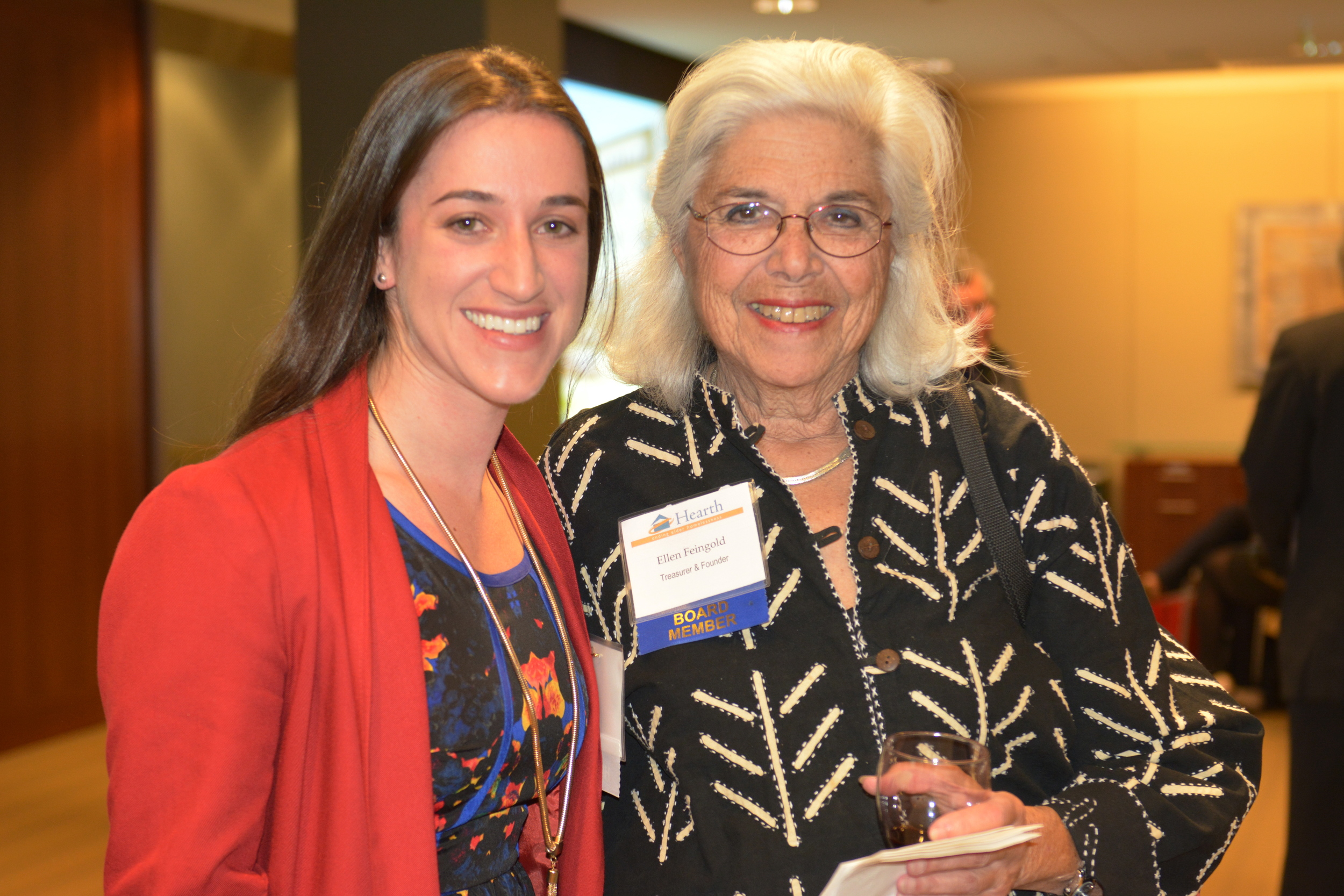 Rachel with Ellen. Ellen also sits on the leadership committee of the NAtional Initiative to End Elder Homelessness.
