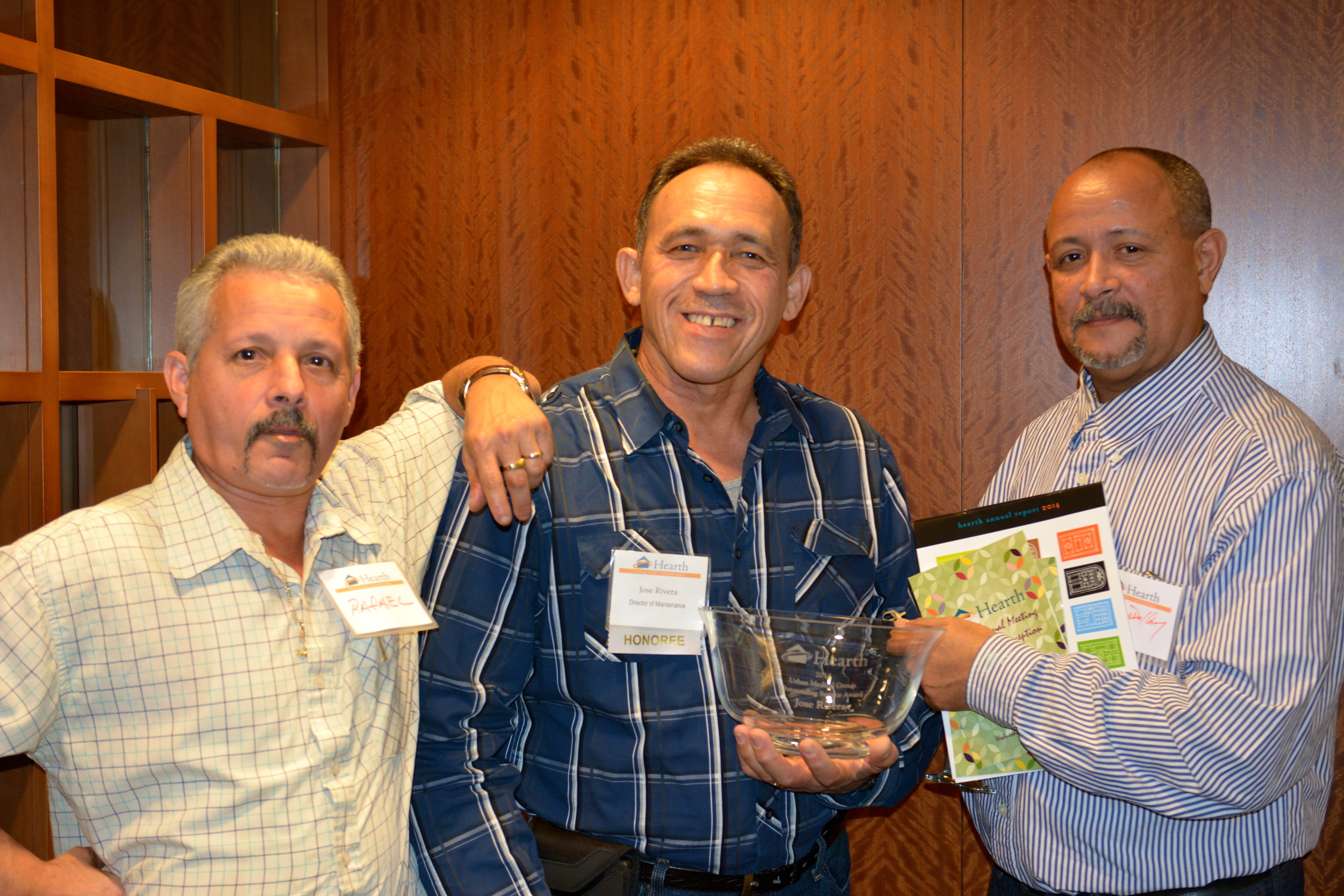 Jose Rivera with part of the Hearth Maintenance Team.