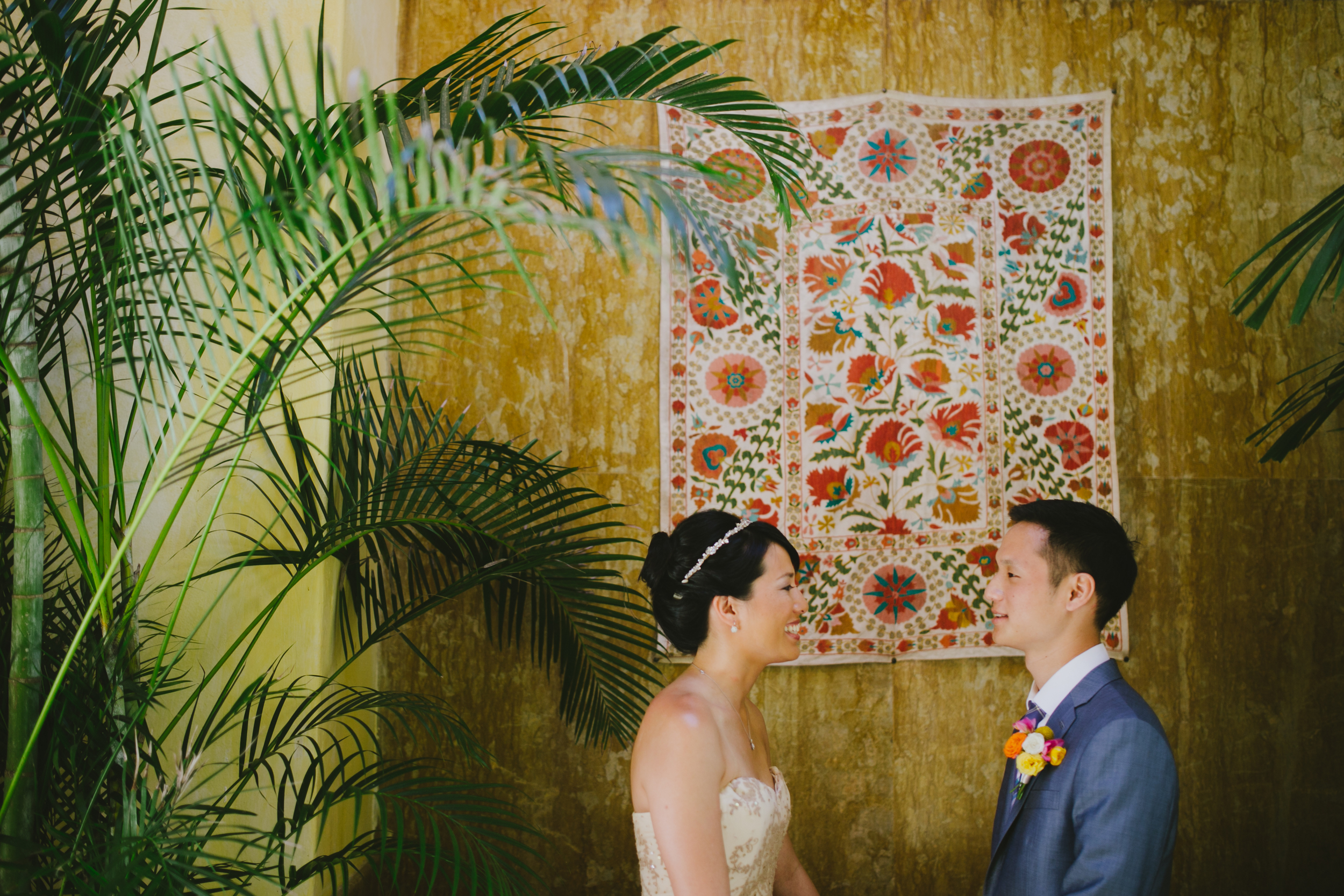 First Look in Punta de Mita Wedding