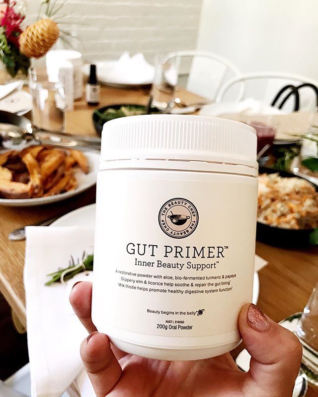 Been such a fan of @thebeautychef 👩🏻🍳🍃products for quite some time (her collagen beauty boost elixir is a must!!) 😋so I was so excited to attend the launch of her newest products: the gut primer powder & inner beauty spray filled with all kinds of magical 🧙♀️ natural ingredients! She also has a new book  #GutGuide which is filled with illuminating facts about our guts, weekly meal plans and recipes!  Also, obsessed with the yummy breakfast spread.. and if i can sweet potato wedges 🍠🍠 for breakfast... I'm all about it! 😅Can't wait to dive in... If you're currently dealing or suffering with any gut related issues, I'd highly recommend checking this book out. It goes innnnn!! 🙏🏻🌸 #sibodiet #guthealth #guthealing #ibsdiet #tummy #donnadetox #detox #dietplan #cleaneating #cleanbeauty #beautychef