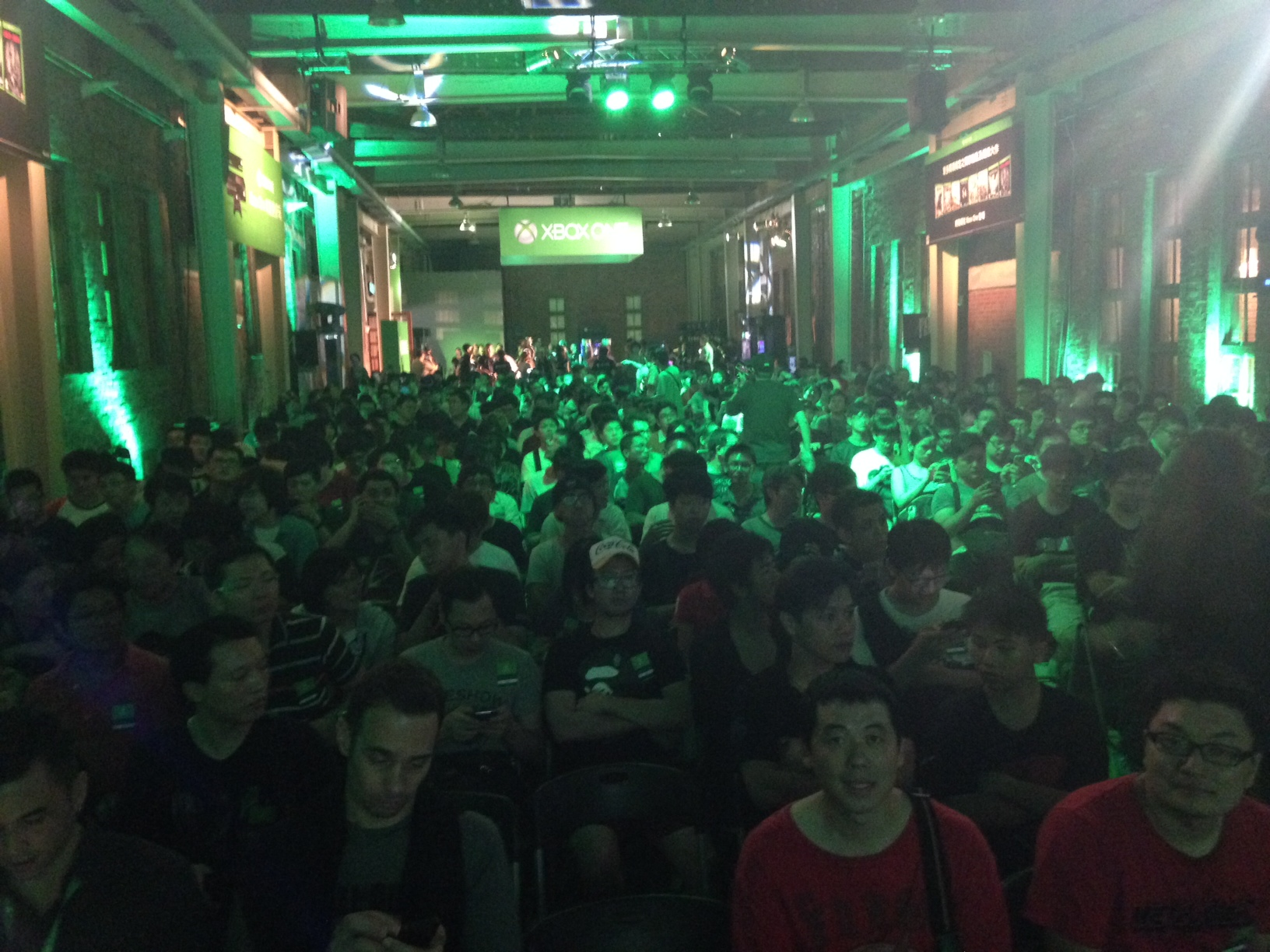 View from the stage in Taiwan, where we held a press conference and fan demo for 600 eager Xbox aficionados.