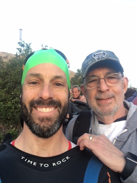 This guy here (NOT me lol) was the best part of ironman santa rosa. the wisest of wise sherpas. remind me to tell the story of the poor schmuck who told my dad to move his g-damned bag at the race site...