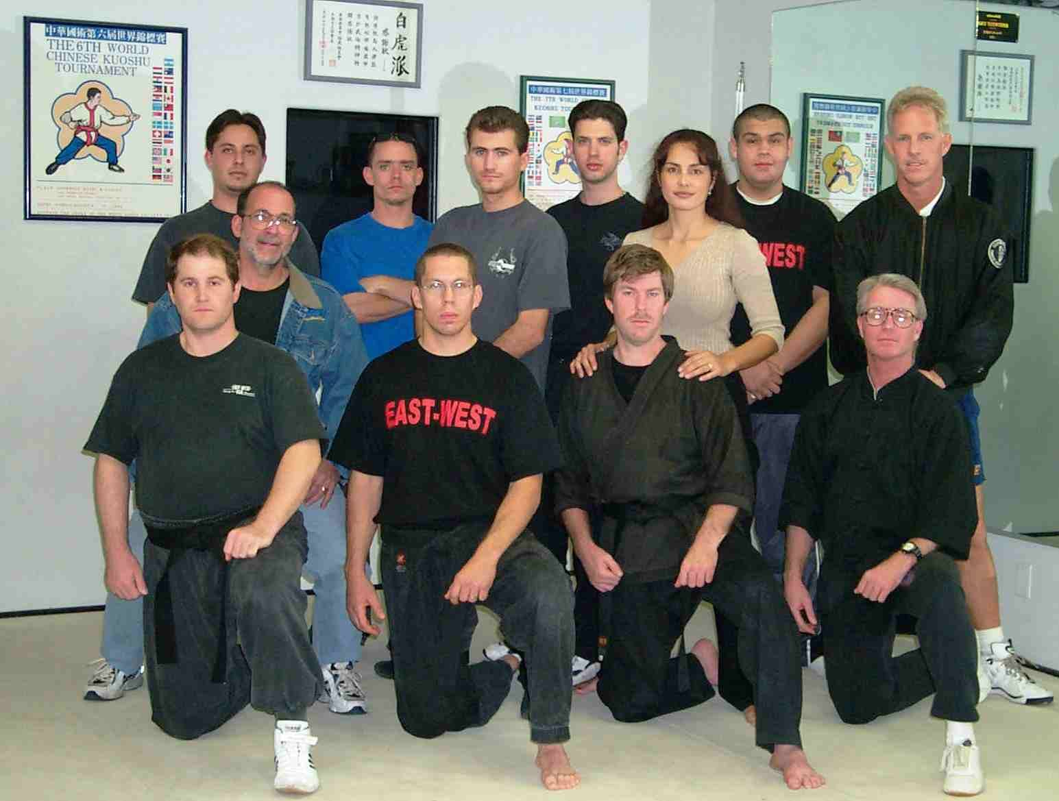 These are many of my classmates whom I had the great pleasure to learn from and train with many years ago. Mr. Shelden and Mr. Campbell are bottom right, respectively. My dad is middle row far left. Mr. York, whom I mentioned above, is third from left in the top row. With nearly limitless hip flexibility and impeccable form, Mr. York was nearly impossible to defeat in 1:1 sparring. I miss these folks. But not the ringing in my ears!