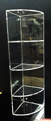 "This is a 3/16"" thick clear acrylic corner shelf. They come in 3 sizes: small ($15) medium ($25) and large ($35)."