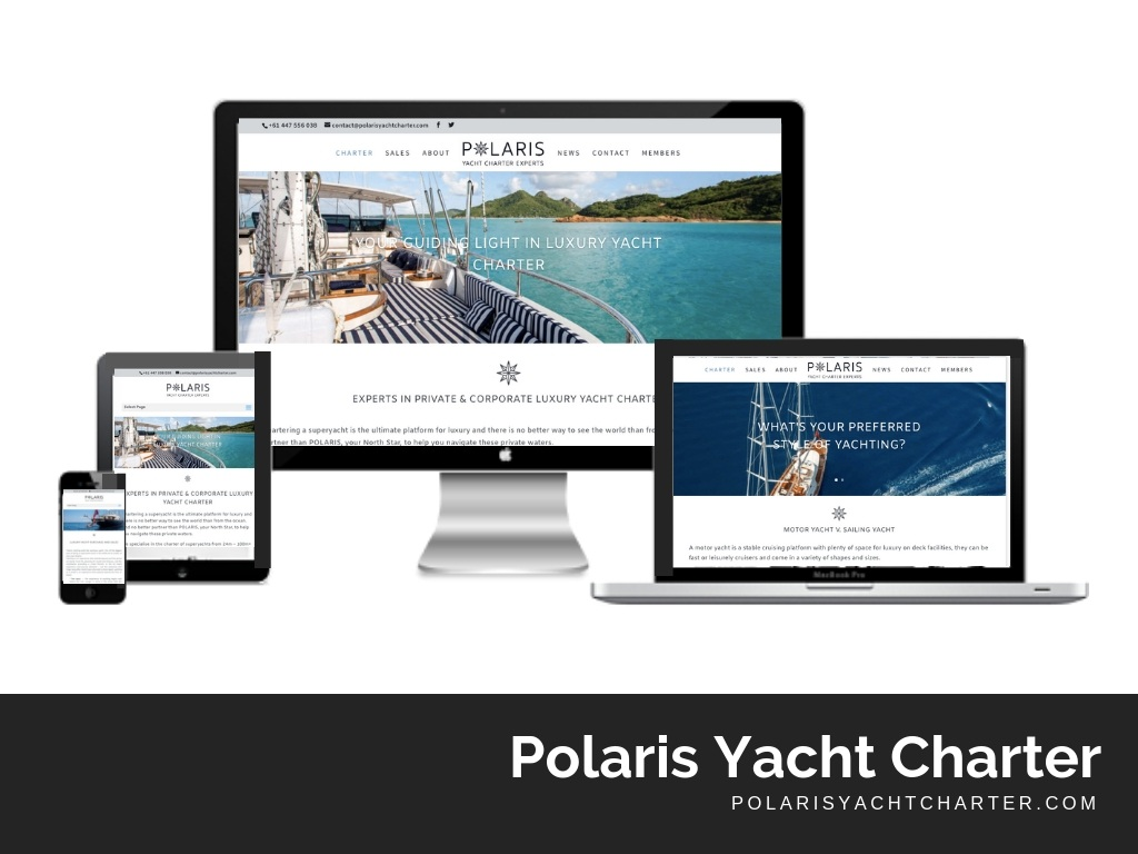 Polaris Yacht Charter Website