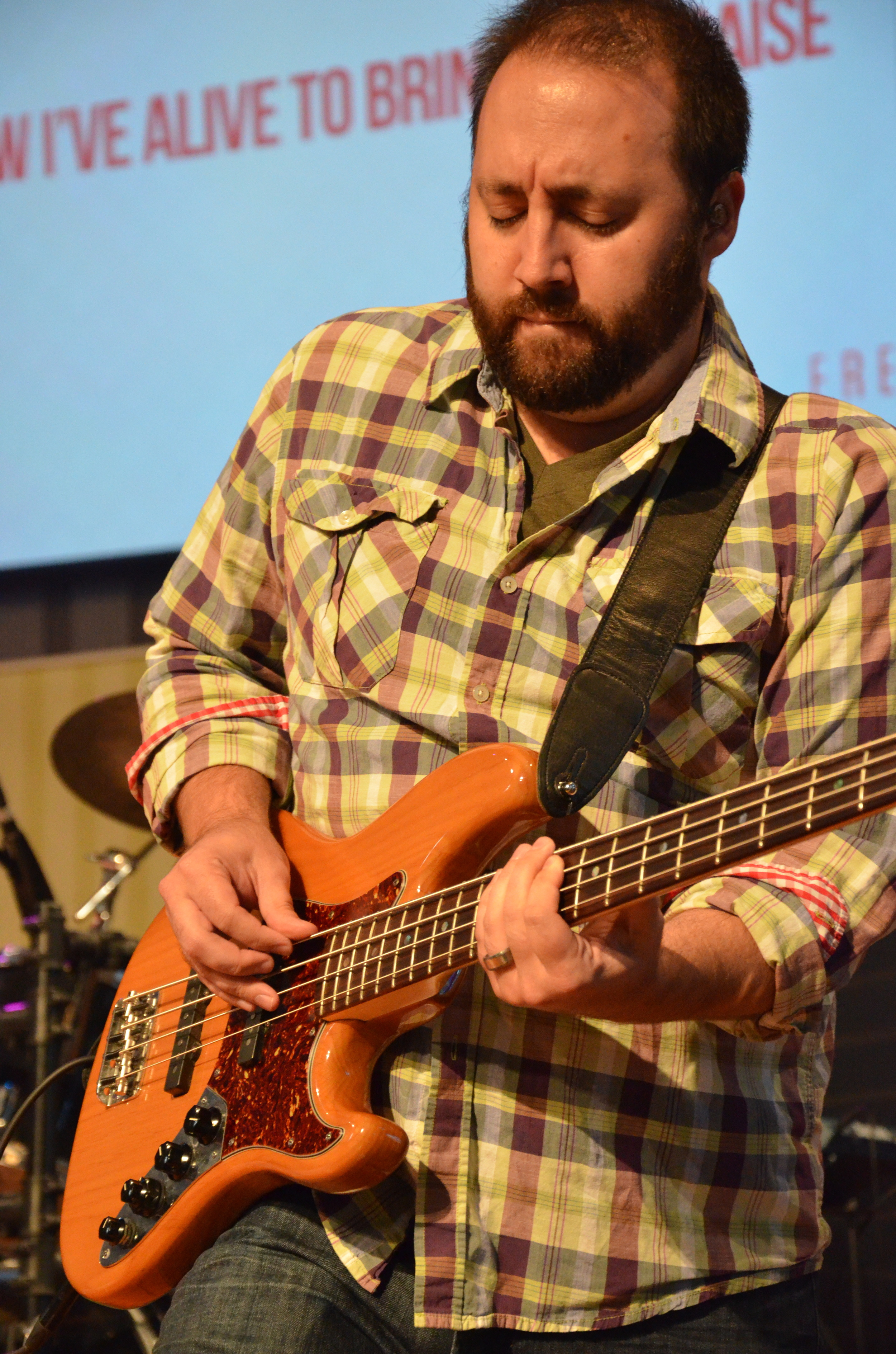 A band member leads attendees in worship at the TNG Conference held at First Baptist Spartanburg September 5-6.