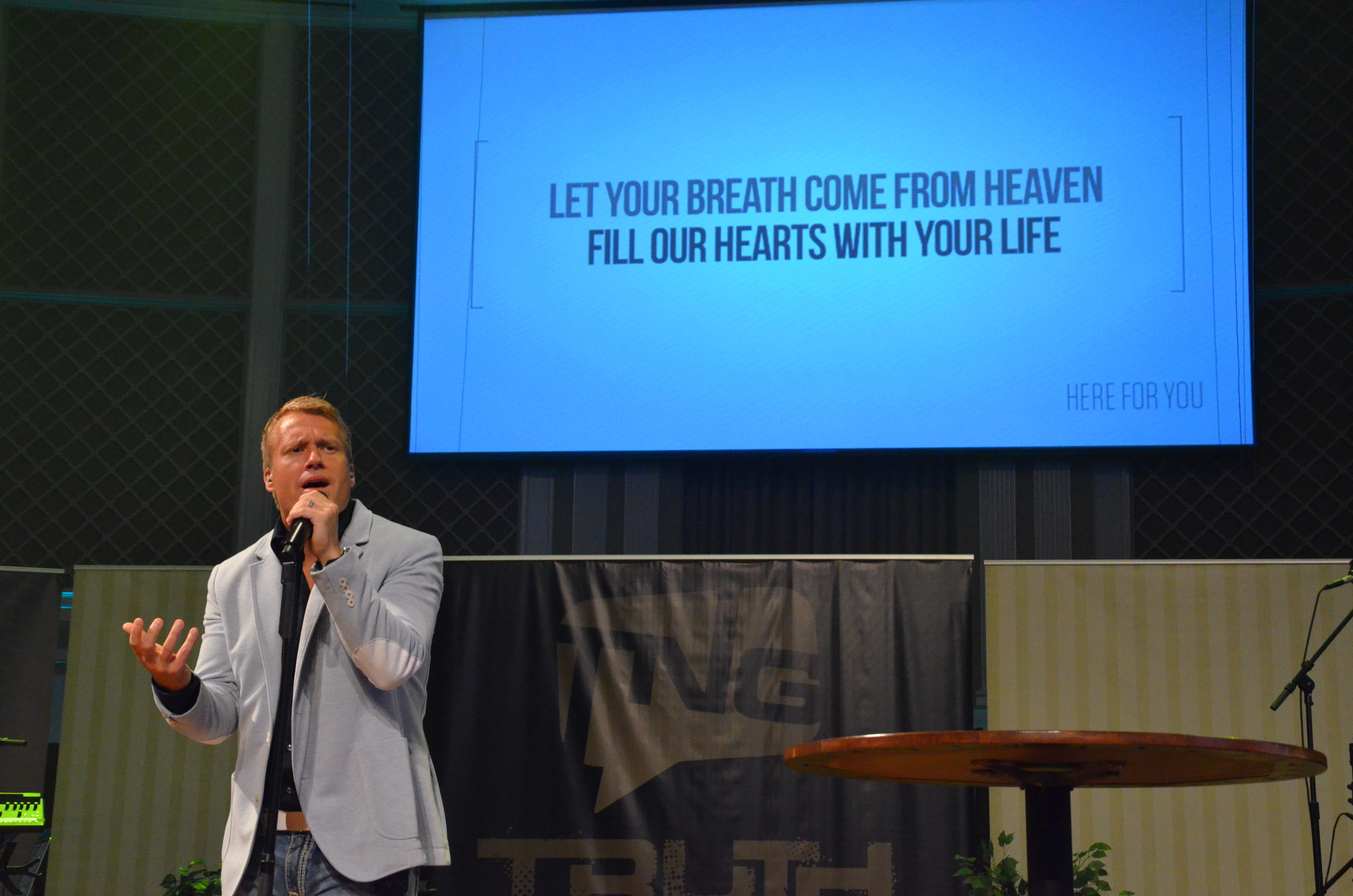 """Charles Billingsly sings """"Here for You"""" at NGU's Truth for a New Generation conference September 5-6."""