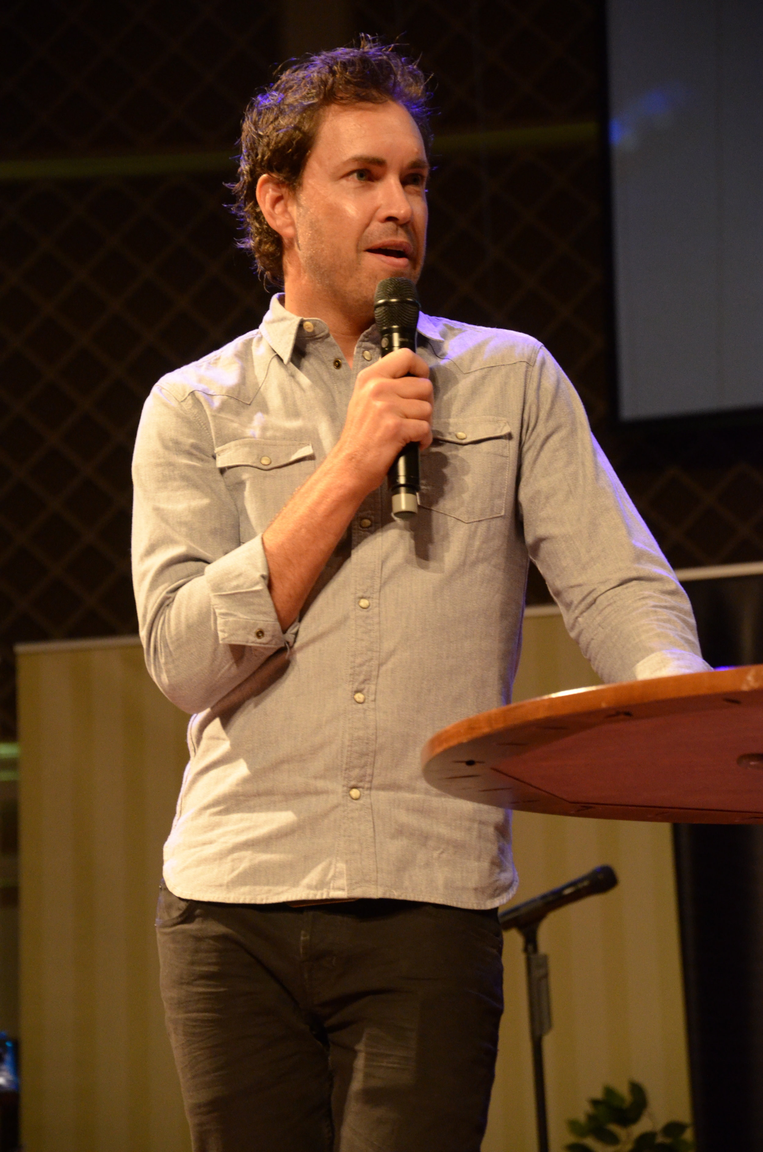 Sean McDowell speaks to attendees of the TNG conference, a place for churches to receive practical apologetics training, in Spartanburg September 5-6.