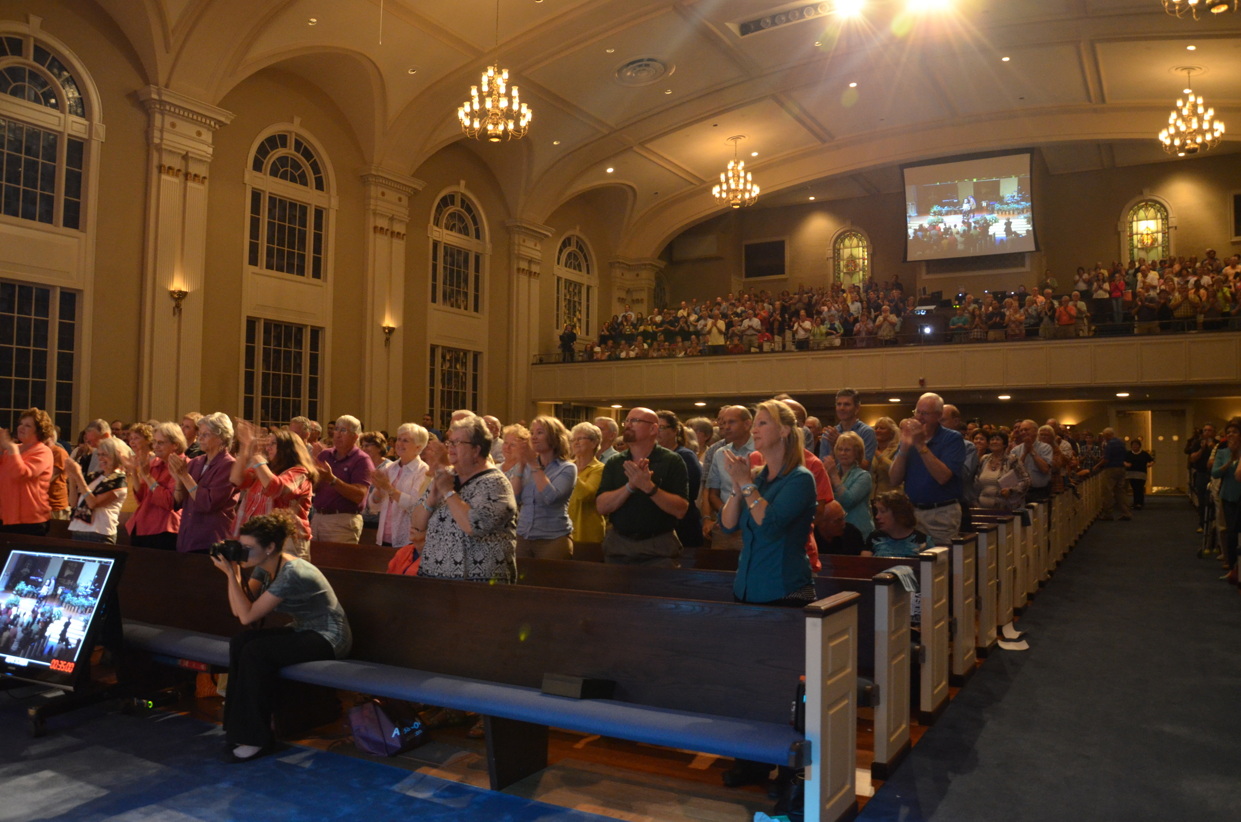 Worshippers attend the TNG conference, where scholars presented their research and the most up-to-date evidence for Christianity September 5-6 in Spartanburg.